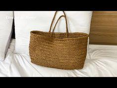 코바늘 헤링본 가방 뜨기 (드래곤백 뜨기) Crochet herringbone bag - YouTube