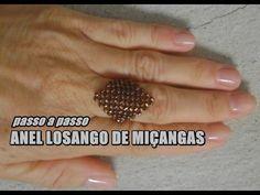DIY: Anel losango de miçangas ♡Joana D'arc - YouTube