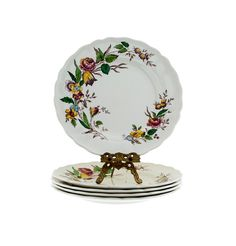 Grindley Plates Set of 5 Marlborough Royal Petal  Rosalind Floral Pattern Salad Plates Replacement China by PlumsandHoney on Etsy