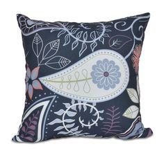 Vinoy Paisley Floral Throw Pillow