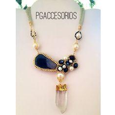 Handmade #pgaccesorios #chapadeoro #handmade #collar #necklace #handmadejewelry #hechoamano #joyeria #cuarzo #perlas #cristal #hechoenmexico #unico
