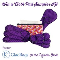 """Just say no"" to ghost tampons. Win a Cloth Pad Sampler Kit from GladRags and In the Powder Room! Cloth Pads are a comfortable alternative to disposable products. They're better for your body, the planet, & your budget."