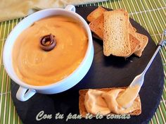 Paté de anchoas Cooking Time, Cooking Recipes, Healthy Recipes, Food N, Food And Drink, Mousse, Sauces, Spanish Tapas, Appetizer Dips