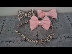 DIY: Como fazer Laços de Cabelo sem Costura e + Como encapar uma Tiara de Cabelo com Tecido #2 - YouTube