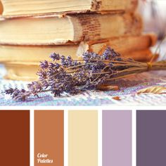 Delicate colour of lavender combined with warm brown colour is ideal for a bedroom. These colours will warm your soul and pacify the mind..