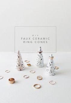 DIY faux ceramic ring cones | almost makes perfect
