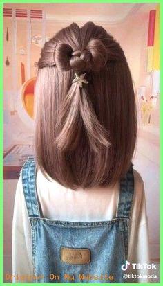 short girl hairstyles for kids toddler hair Braided Bun Hairstyles, Baby Girl Hairstyles, Waitress Hairstyles, Kids Girl Haircuts, Bob Haircuts, Girl Hair Dos, Cute Girl Hair, Small Hair Style Girl, Toddler Girl Hair
