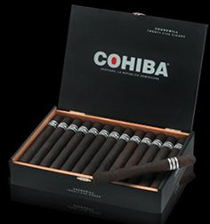 Cohiba Black Churchills - Box of 25: $352.00 With its deeply dark maduro wrapper the Cohiba Black Corona cigars have a super-rich and a nice complexity...