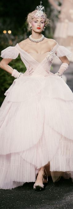 Christian Dior, reminds me of Glenda the good witch.