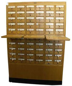 Remember this? It's a Library catalog, with 60 drawers. It would be great for teachers or crafters! Buckeye Appliance and Antiques (Stockton, CA)