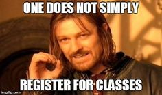 Then the college's wireless network gets overloaded, and you can't even load the system. | Community Post: The Stages Of Class Registration Season As Told By Memes... Don't forget to use ratemyprofessors.com!