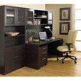 Found+it+at+Wayfair+-+Pro+X+-+Standard+Manager's+Desk+Office+Suite - perfect for office...just add another bookcase to left side...leave shelf out to put tv