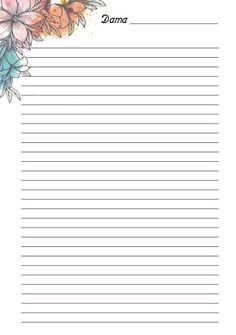 Printable Lined Paper, Free Printable Stationery, Journal Paper, Journal Cards, Easy Crafts To Sell, Cute Journals, Good Notes, Stationery Paper, Writing Paper