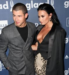 "Demi Lovato with her ""Future Now"" tour partner Nick Jonas"