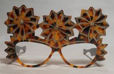 Fabulous Vintage Sunglasses 1970 giant decorated frame france
