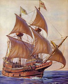 The Mayflower departed from Southampton, England, on its first attempt to reach North America on this day 5th August, 1620. Its sister ship, the Speedwell developed a leak. It had to be refitted at Dartmouth and, after further leaks (or possibly sabotage) The Mayflower made the 60 day crossing alone.