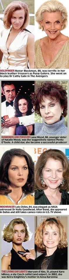 Bond girls - then & now