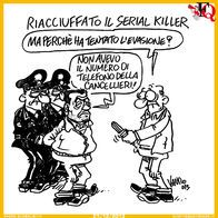 Arrestato il serial killer #Vauro #satira #Cancellieri