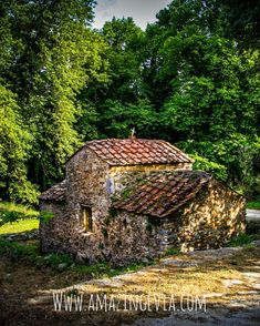 Travel back in the century discovering incredible monuments like this Byzantine chapel in Evia island Byzantine, Waterfall, The Incredibles, Cabin, Island, Explore, Monuments, House Styles, Amazing