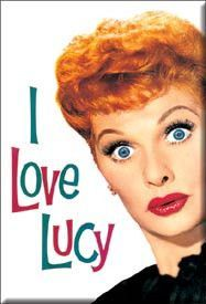 I Love Lucy Face Magnet
