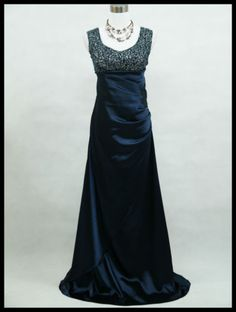 Blue, or Purple or Black evening dress with fab details. Matching organza shawl. UK-18-20-22-24. Click to buy. Free shipping.