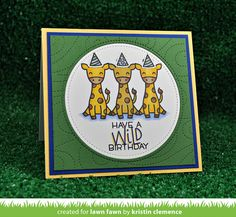 the Lawn Fawn blog: A Wild for You Birthday Card by Kristin!