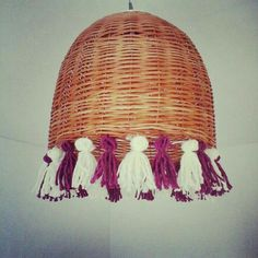 Rattan Lamp, Outdoor Living Rooms, Boho Diy, Lampshades, Sweet Home, Arts And Crafts, Lights, Crochet, Witchcraft
