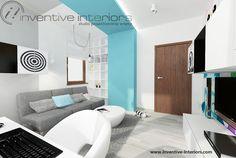 Projekt pokoju dziecięcego Inventive Interiors - oświetlenie w pokoju dziecka, niebieski pokój dla chłopca