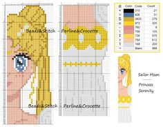 Ricami e schemi x punto croce, piantine e. Cross Stitch Boards, Cross Stitch Bookmarks, Just Cross Stitch, Beaded Cross Stitch, Cross Stitch Alphabet, Crochet Cross, Cross Stitch Embroidery, Sailor Moon, Disney Cross Stitch Patterns
