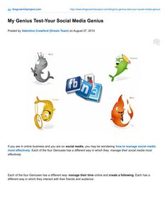 ISSUU - Your Social Media Genius-My Genius Test by Valentino Crawford Jr