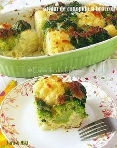 » Gratin de conopida si broccoliCulorile din Farfurie Vegetarian Recipes, Cooking Recipes, Healthy Recipes, Romanian Food, Custom Kitchens, Canapes, Potato Salad, Mashed Potatoes, Ale