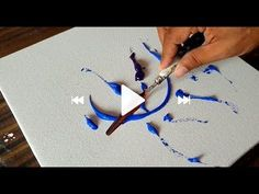 Making of Abstract Painting / Blue / Palette knife & Acrylics / Project . - - Making of Abstract Painting / Blue / Palette knife & Acrylics / Project … Art Making of Abstract Painting / Blue / Palette knife & Acrylics / Project … Abstract Painting Easy, Abstract Painting Techniques, Simple Acrylic Paintings, Acrylic Art, Diy Painting, Project Abstract, Acrylic Nails, Paint Techniques, Blue Painting