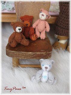 Micro crochet bears by Tiny Paws™, via Flickr