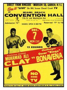AP1107 - Muhammad Ali vs Oscar Bonavera, Boxing Poster