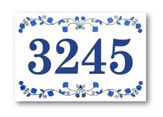 Outdoor House Number House Numbers sign Address by AyeBarDesigns