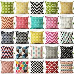 Colorful Geometric Throw Pillows