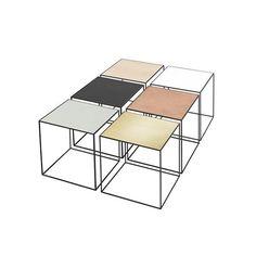 Twin table, black & copper - by Lassen