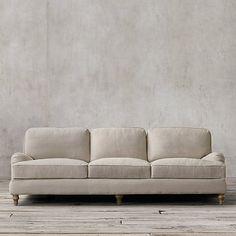 "$3,995  84"" English Roll Arm Upholstered Sleeper Sofa   Restoration Hardware"