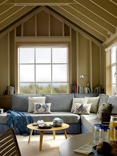 Stinson Beach House - beach style - family room - san francisco - ScavulloDesign Interiors