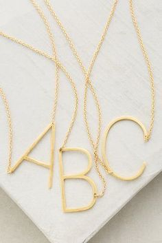 Easy and 1...2...3... Love these Anthropologie monogram pendant necklaces on ShopStyle!
