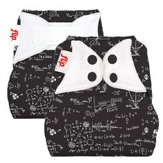 """flip one size diaper cover """"albert"""" is covered in equations!! absolutely """"flippin"""" love this!"""