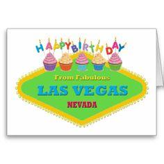 HAPPY BIRTHDAY FROM FABULOUS LAS VEGAS CARD