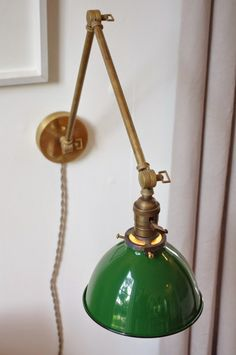 brass swing arm lamp