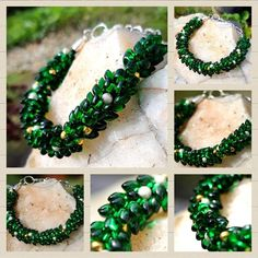 A stunningly beautiful statement Bracelet just for that Christmas night out or simply any time during the Christmas holiday period! Christmas Night, Christmas Holidays, Stunningly Beautiful, Craft Work, Night Out, Jewelry Design, Beaded Bracelets, Jewellery, Drop Earrings