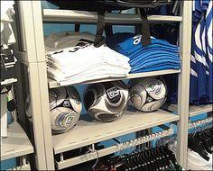 Soccer Ball Sandwich – Fixtures Close Up Scuba Dive Shop, Liverpool Kit, Bottle Display, Soccer Store, Store Fixtures, Soccer Ball, Football Team, Cheerleading, Sports