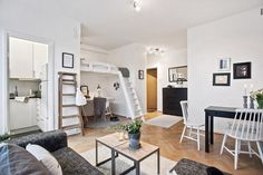 Space-Saving Design In A 29 Square Meter Gothenburg Studio Apartment