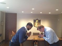 Namaste with Commissioner Goodell.