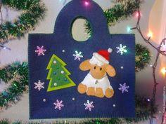 Christmas felt bag