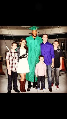 Adreian Payne with Lacey's family at graduation