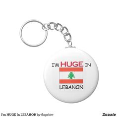 I'm HUGE In LEBANON Basic Round Button Keychain